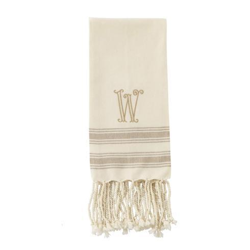 """$8.95 W Initial Turkish Hand Towel (Size 38"""" x 20"""")"""