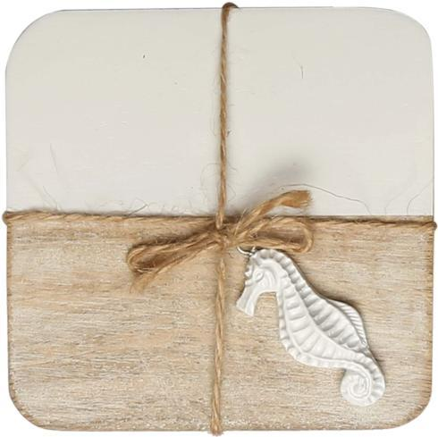 $18.95 Wood and Marble Coasters  set of 4