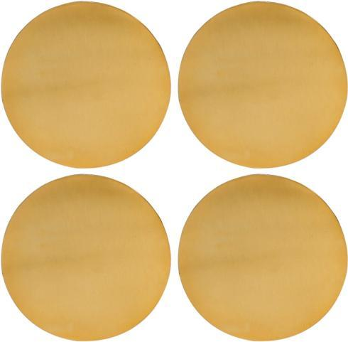 Elizabeth Clair\'s Unique Gifts  Coasters Round Gold Finish Old Hollywood Metal Coasters, Set of 4, Multi-Colour $22.95