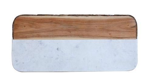Creative Co-op   White Marble & Mango Wood Rectangle Cheese Board (Each one will vary) $29.95