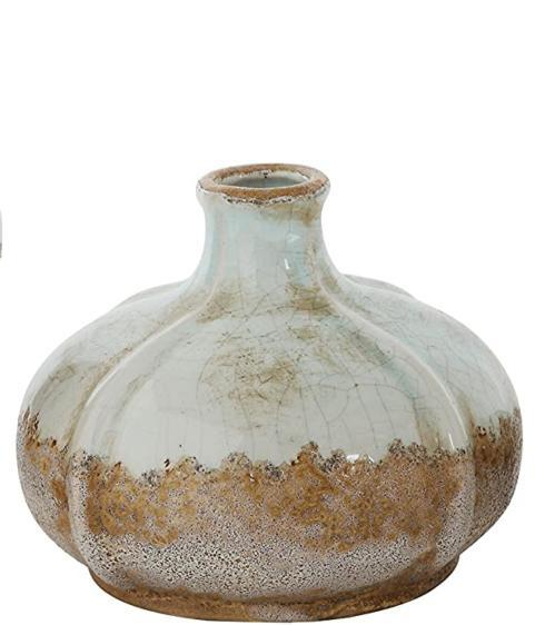 Creative Co-op   Round Terracotta Vases with Distressed Finish  MD $12.95