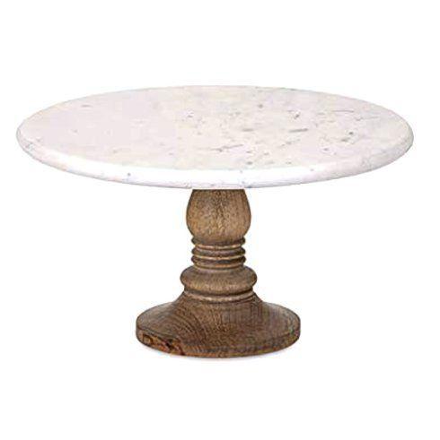 IMAX   Lissa Marble Round Cake Stand $52.95