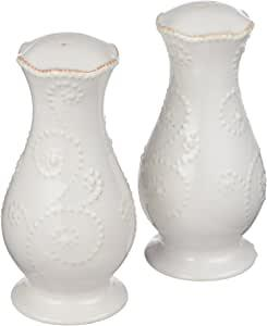 $32.95 French Perle White Tall Salt and Pepper Set