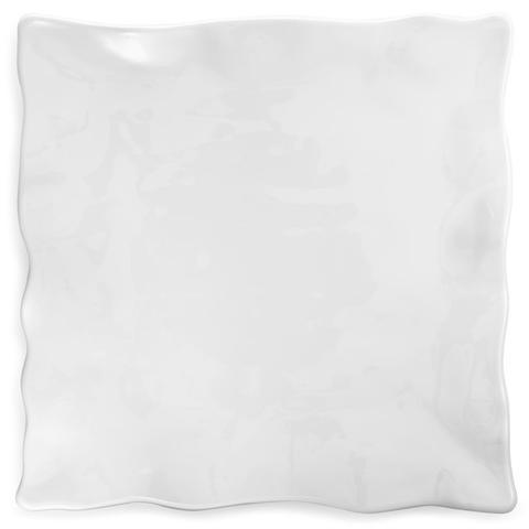 Q Squared   Ruffle White Melamine Square Large Platter $44.95