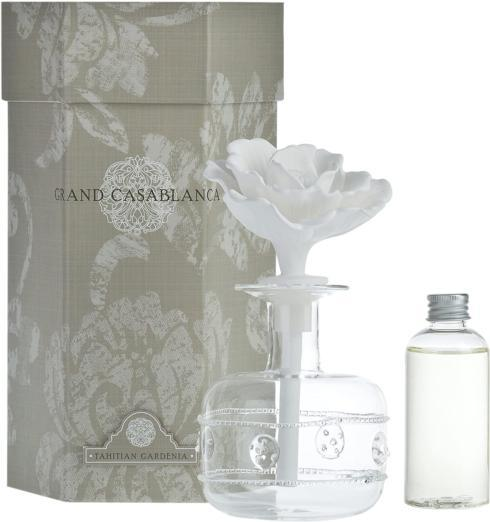 Zodax Grand Casablanca Porcelain Diffuser, Tahitian Gardenia Scent collection with 1 products