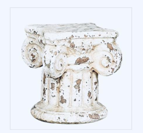 $26.95 Cream Distressed Pedestal Column