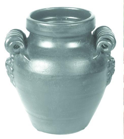 Aqua round Jar With Handles 9.75