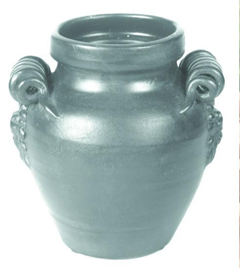 $57.95 Aqua round Jar With Handles 9.75""