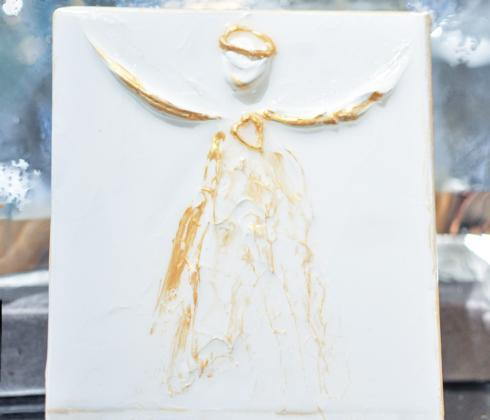 $32.95 Angle Gold on White