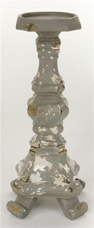 $33.95 Gray and Cream Candleholders 12.5""
