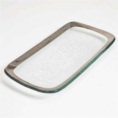 "$75.95 Annieglass 9""X 4"" Relish Tray"