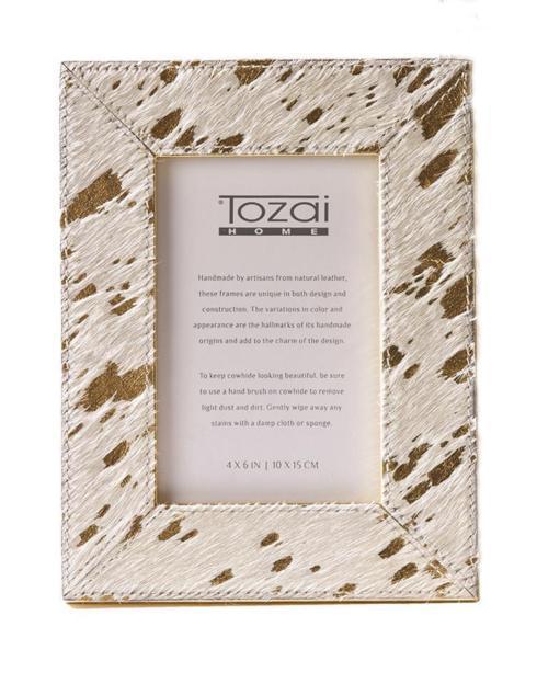 Tozai Home   4 X 6 Gold Cowhide Frame $48.95