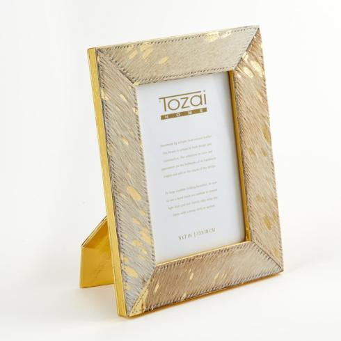 Tozai Home   5 X 7 Gold Cowhide Frame $59.95