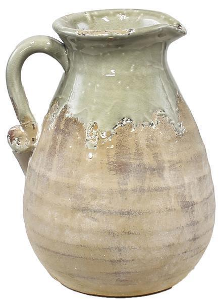 "$32.95 10"" Light Sage and Matte Finish Pitcher"