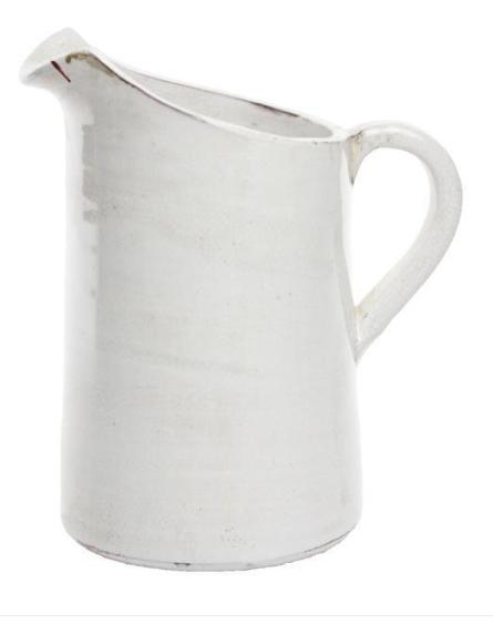A&B Floral   White Straight Pitcher $29.95