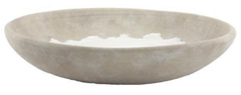 """$32.95 White Stoneware 14""""x 3"""" Platter"""