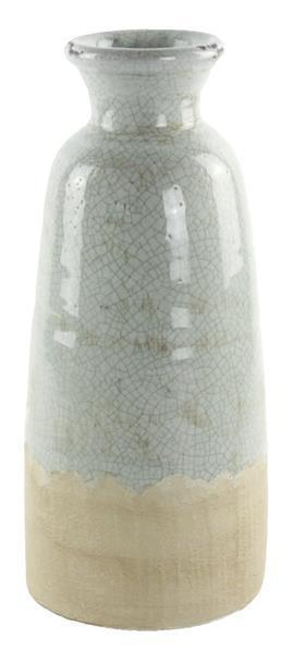 """$34.95 Aqua 14"""" Vase Stoneware"""