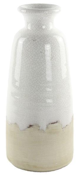 "$34.95 White 14"" Vase Stoneware"