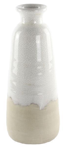 White Stoneware Vase 18.25