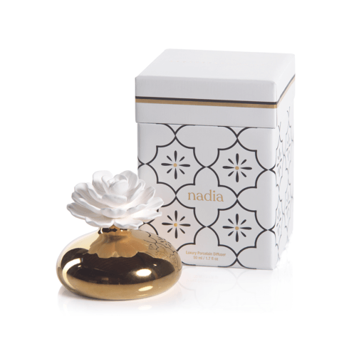 Nadia Porcelain Diffuser (Fragrance White Rose) collection with 1 products