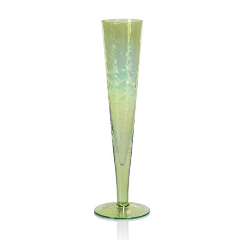 Zodax  Glasses Aperitivo Slim Champagne Flute Green $14.95