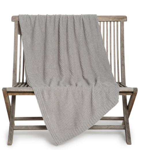 Barefoot Dreams  THROWS the WAFFLE THROW BLANKET Dove Gray $108.95