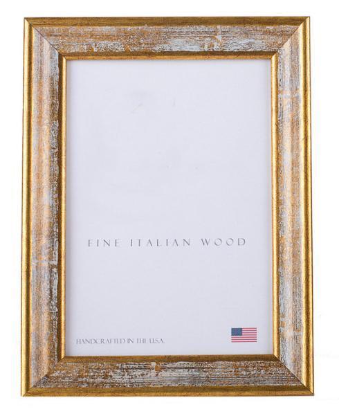Elizabeth Clair\'s Unique Gifts  Frames Antique Gold With White Splash Frame $46.95