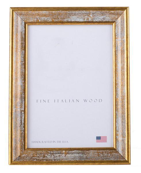 Elizabeth Clair\'s Unique Gifts  Frames Antique Gold With White Splash Frame $46.95