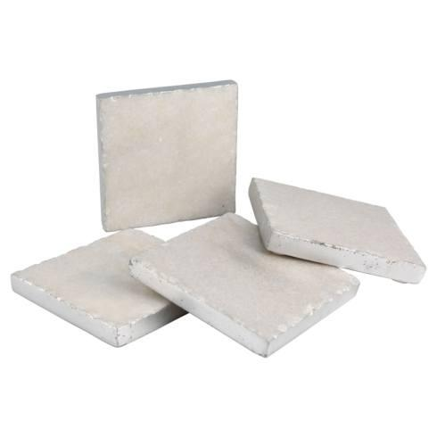 Elizabeth Clair\'s Unique Gifts  Coasters Set of 4 SQ White Marble Coasters $22.95