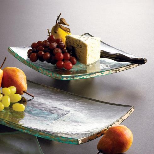 "Elizabeth Clair\'s Unique Gifts  Annieglass Annieglass - 10""x10"" Square Slab    $104.95"