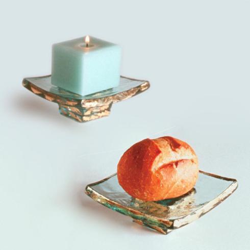 "Elizabeth Clair\'s Unique Gifts  Annieglass Annieglass - 5""x 5"" Square Truffle Stand $78.95"