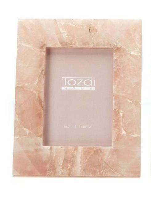 """Tozai Home   GENUINE PINK QUARTZ/IRON/GLASS 5"""" x 7"""" $84.95"""