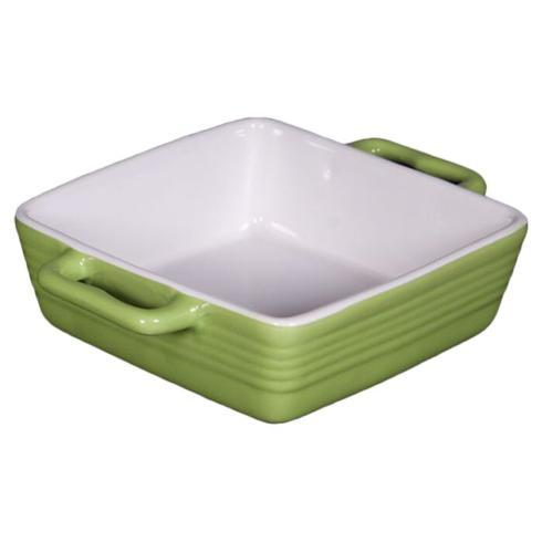 $7.95 Ceramic Square Monique Green Casserole  Baker