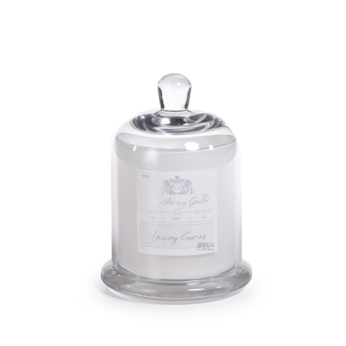 Apothecary Guild Scented Candle Jar with Glass Dome - Medium (Fragrance Spring Crocus)  White collection with 1 products