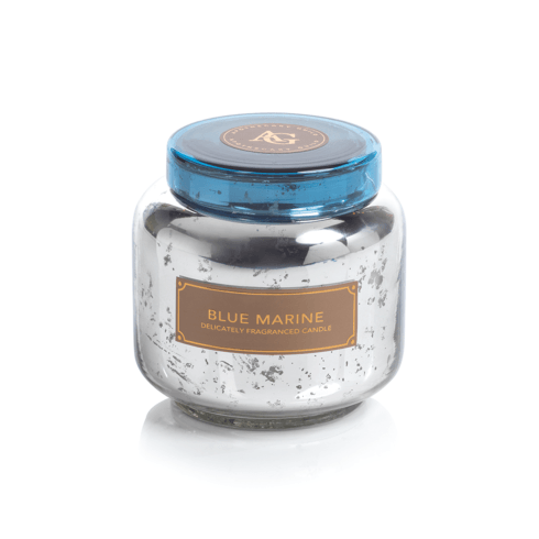 Zodax  Candles Apothecary Guild Antique Jar Candle with Lid (Fragrance Blue Marine) Sliver $39.95