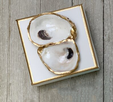 $30.95 4x4 White Crystal Oyster Art