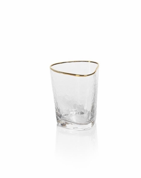 Zodax  Glasses Aperitivo Triangular DOF Gold Rim $14.95