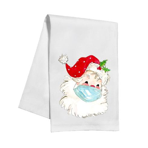 $14.95 Masked Santa Tea Towel
