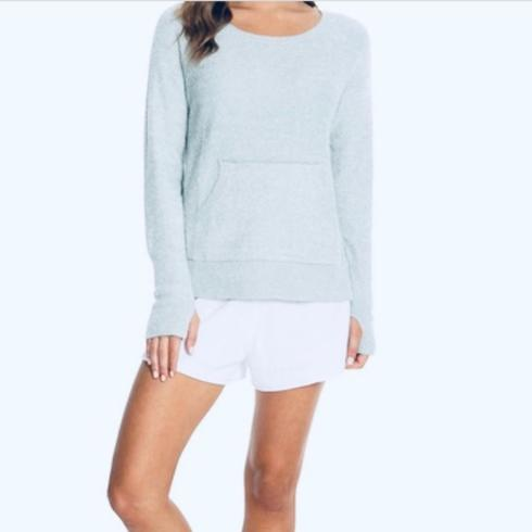 $89.95  COZYCHIC LITE® RAGLAN CREW in Meadow Green (small)
