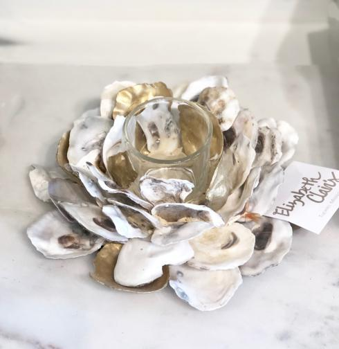 $20.95 Gold & Oyster Tealight Holder