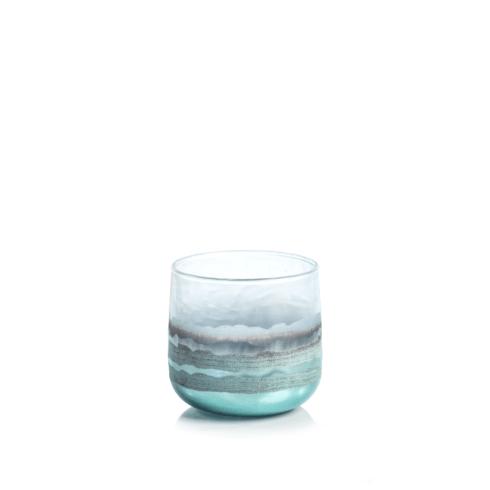 $12.95 Smoke Votive Holder - Blue