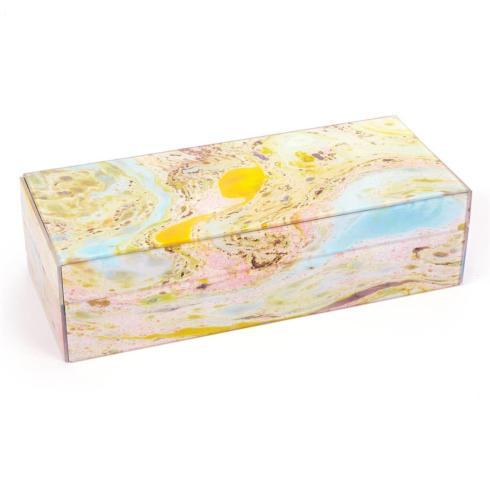 $58.95 Suminagashi Floating Ink Glass Box with Velvet Lining