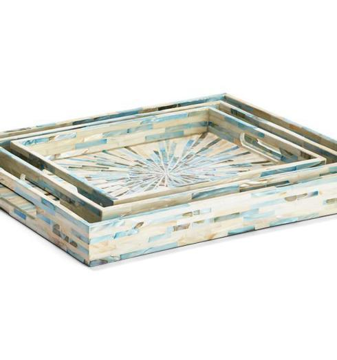 $45.95 Small Rectangular Aqua Gallery Tray