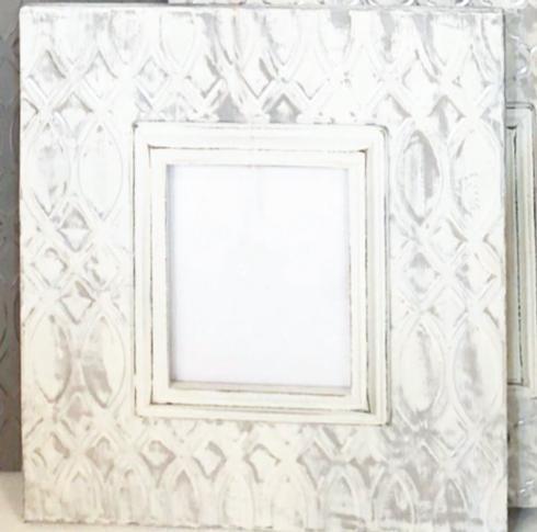 "Elizabeth Clair\'s Unique Gifts  Frames Large Metal 8"" x10"" Cream Distressed Trellis Frame $129.95"