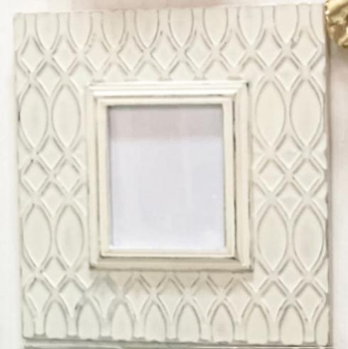 "Elizabeth Clair\'s Unique Gifts  Frames  White Distressed Trellis Large Metal Frame That holds 8"" x 10"" Pictures $129.95"