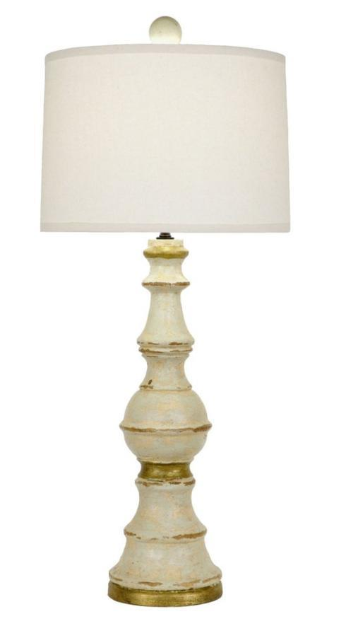 $359.95 Wood Table Lamp Cream with Gold