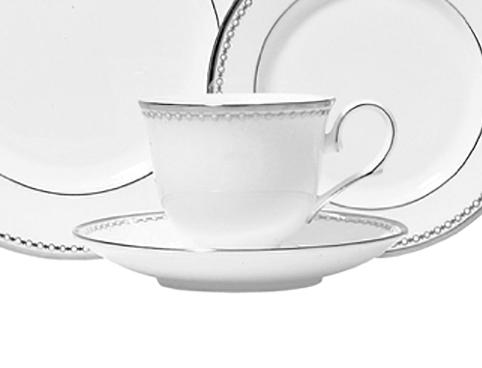 Elizabeth Clair\'s Unique Gifts   Royal Crown Pearl Platinum Cup and Saucer $63.00