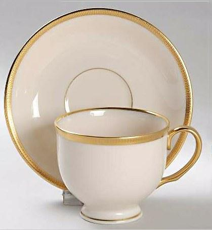 $119.95 Tuxedo Teacup and Saucer