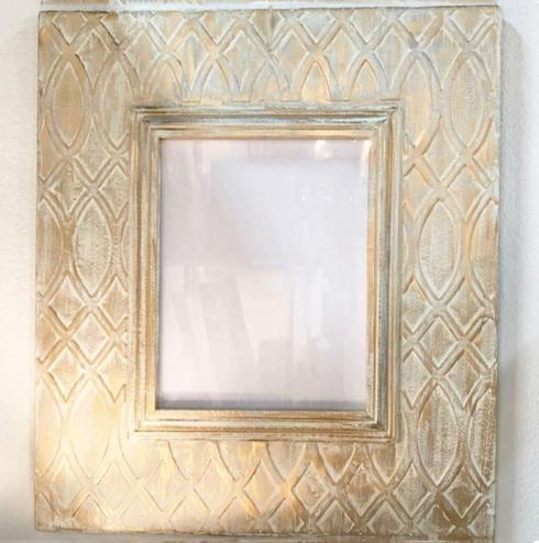 "Elizabeth Clair\'s Unique Gifts  Frames Gold Distressed Trellis Large Metal Frame That holds 11"" x 14"" Pictures $139.95"