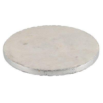 $30.95 Hollywood Marble Trivet with Silver Edge, Multicolor